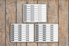 27 Grayscale Striped Single Line Label | To Do, Work, Blank | Planner Stickers for Erin Condren, Passion Planner, inkWELL Press Planners NQ3