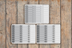 27 Grayscale Solid Single Line Label | To Do, Work, Blank | Planner Stickers for Erin Condren, Passion Planner, inkWELL Press Planners NQ4