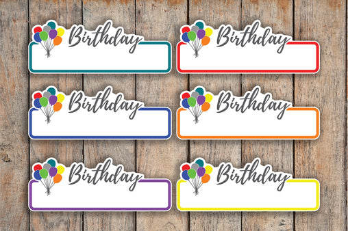 18 Birthday Labels, Gift, Balloon Planner Stickers for Erin Condren, inkWELL Press & Passion Planners RQ1