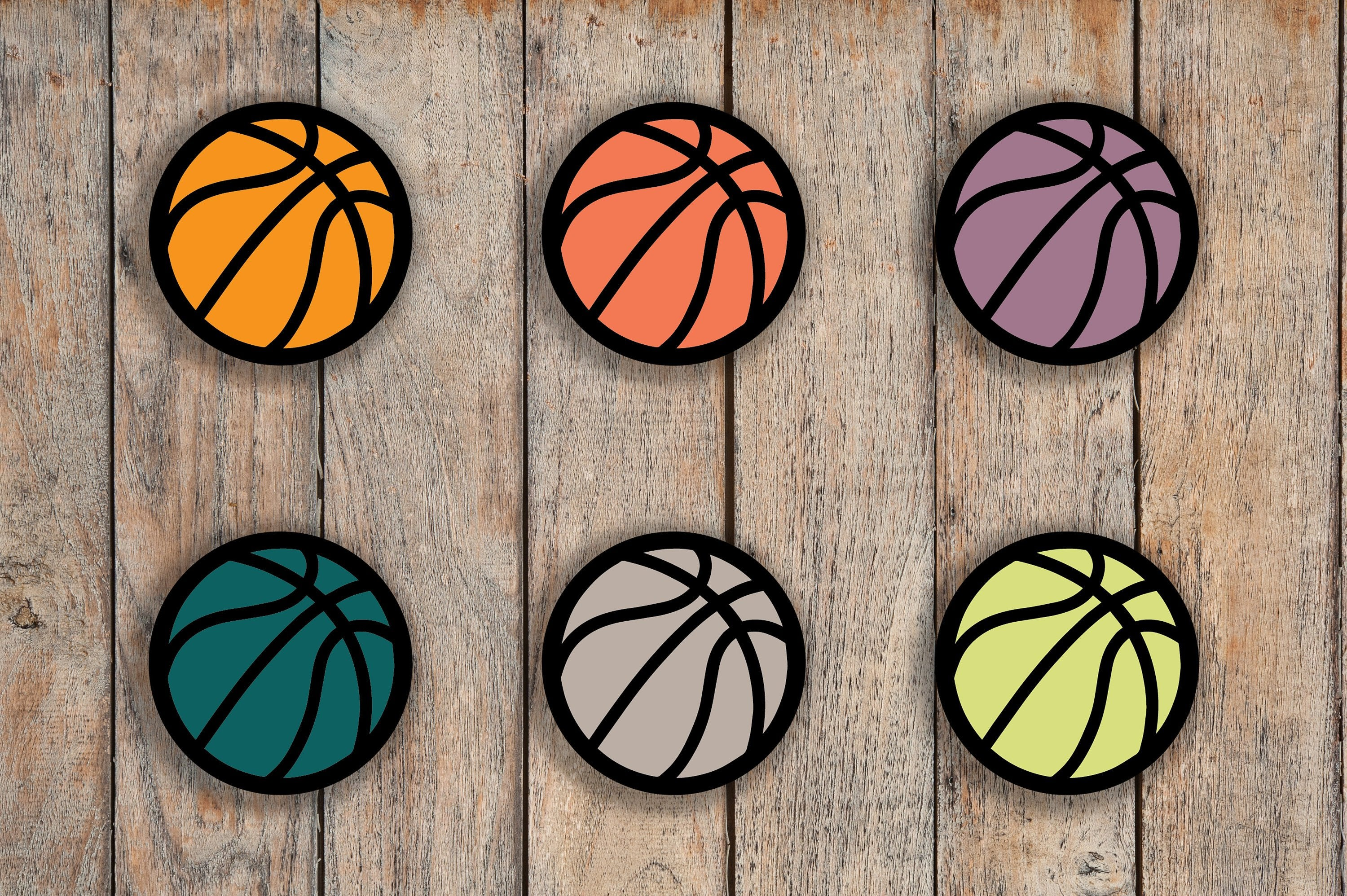 96 Basketball Sport Icon Planner Stickers for 2018 inkWELL Press, Erin Condren, Plum Paper IWP-Q297