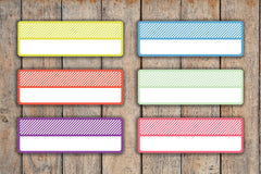 18 Striped Blank Quarter Box Planner Stickers KQ2