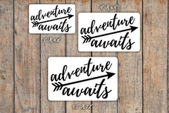 Adventure Awaits Decal for Motivation for inkWELL Press Planner, Erin Condren Planners