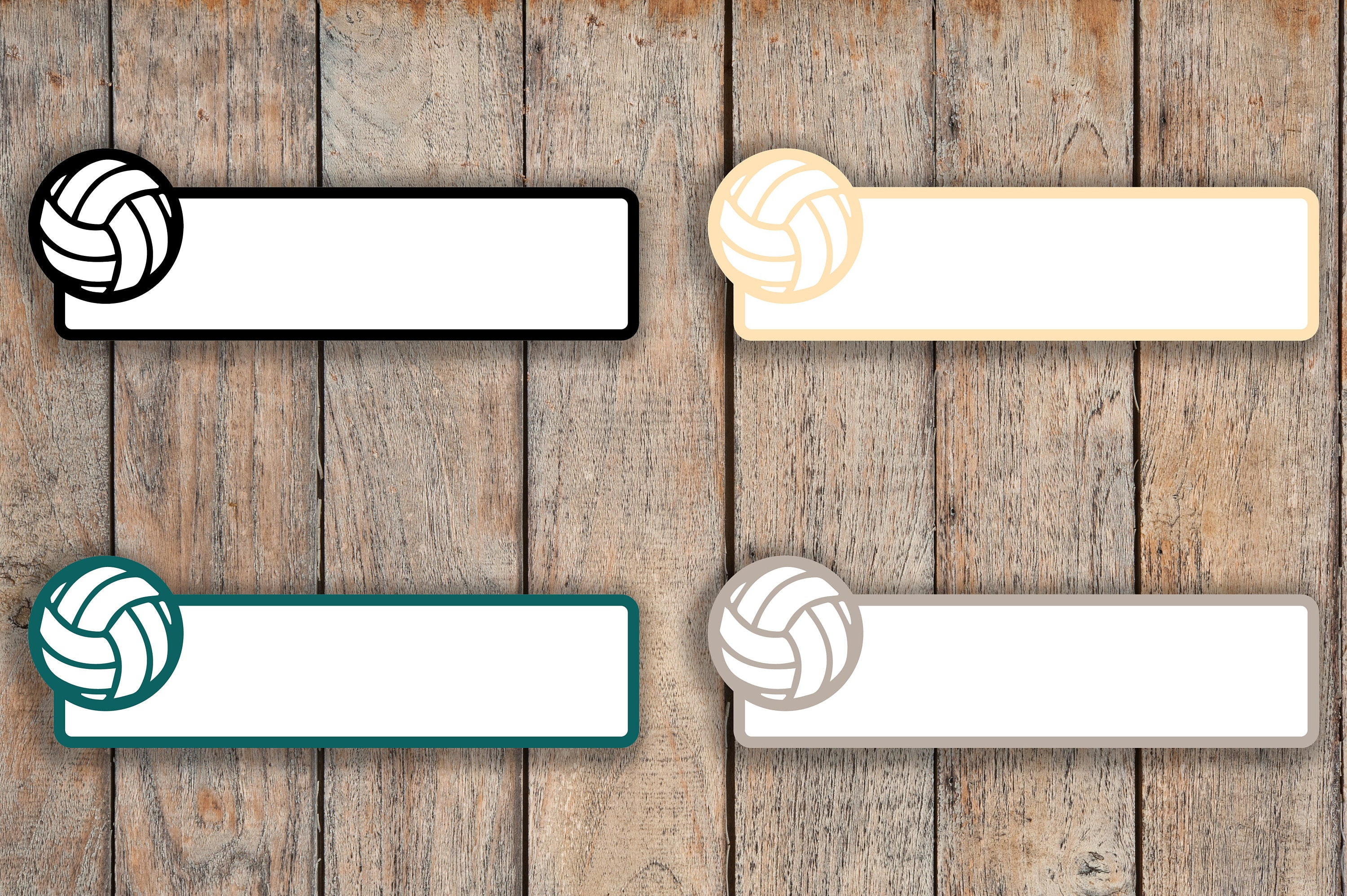21 Volleyball Sport Label Planner Stickers for 2018 inkWELL Press Planners IWP-Q299