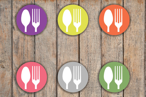 70 Meal Plan, Dinner, Food, Lunch Circle Icon Stickers KQ4