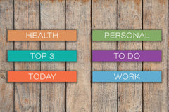 36 CLASSIC Headers |To Do, Today, Personal, Health, Work, Top 3, Blank| Stickers KQ6