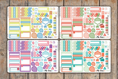 108 Striped Sticker SAMPLER | Banner, Hexagons, Boxes, Icons, Flags and More | KL1