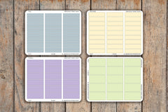 Pastel Time Block Interval Sheets | 30, 60, 90, 120 Minutes | For 2018 Passion Planner Pro Planners PQ19