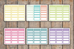 24 Outlined Box Time Block Interval Sampler | 30, 60, 90, 120 Minutes | For 2018 Passion Planner Pro Planners PQ21