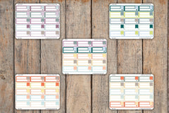 15 Striped BLANK Label Planner Stickers for 2018 inkWELL Press Planners IWP-Q301