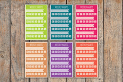 6 Solid Multiple Habit Tracker Sidebar Stickers For 2018 Passion Planner Pro Planners PL12