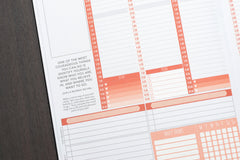 21 Heart 3 Hour Time Block Checklist (6 Lines) Stickers for 2018 Passion Planner Pro Planners PL7