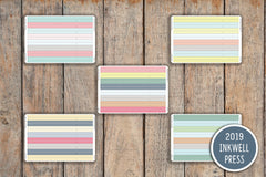 24 CLASSIC Washi Chevron Divider Strip Planner Stickers for 2019 inkWELL Press Planners IWP-G19