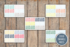 12 Solid One Month Habit Tracker Hexagon Planner Stickers for 2019 inkWELL Press Planners IWP-G23