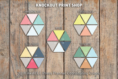 48 Striped Hexagon Checkbox Flags | To do List Stickers for 2018 inkWELL Press Planners IWP-G10