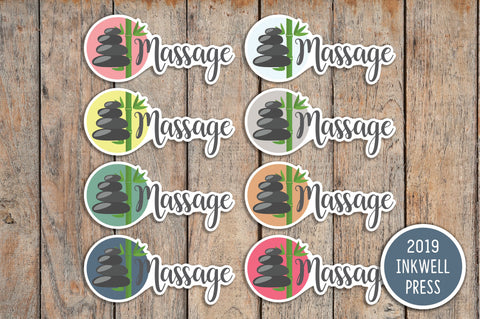 24 Treat Yourself, Massage, Therapy, Relax Planner Stickers for 2019 inkWELL Press Planners IWP-T142