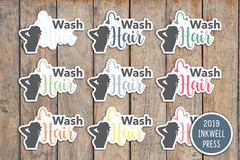 30 Wash Hair, Shower, Getting Clean Icon Planner Stickers for 2019 inkWELL Press Planners IWP-T143