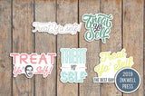 Treat Yo Self Parks & Rec, Shopping Day Planner Stickers for 2019 inkWELL Press Planners IWP-T153