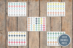 42 Piggy Bank Savings Planner Stickers for 2019 inkWELL Press Planners IWP-T158