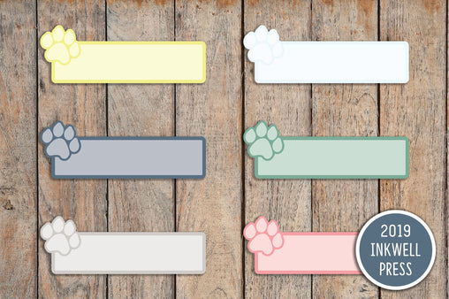18 Pet Care, Dog Paw, Cat Paw Planner Stickers for 2019 inkWELL Press Planners IWP-T159