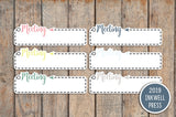 Meeting Dash Box Planner Stickers for 2019 inkWELL Press Planners IWP-T168