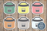 Instant Pot/Crock Pot Icon Stickers for 2019 inkWELL Press Planners IWP-T171
