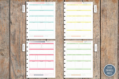 Monthly Reflection PRINTED Planner Inserts for Inkwell 360 Disc Planner IWP-I15