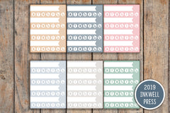9 Striped LARGE Habit Tracker Sidebar/Notes Planner Stickers for 2019 inkWELL Press Planners IWP-G27