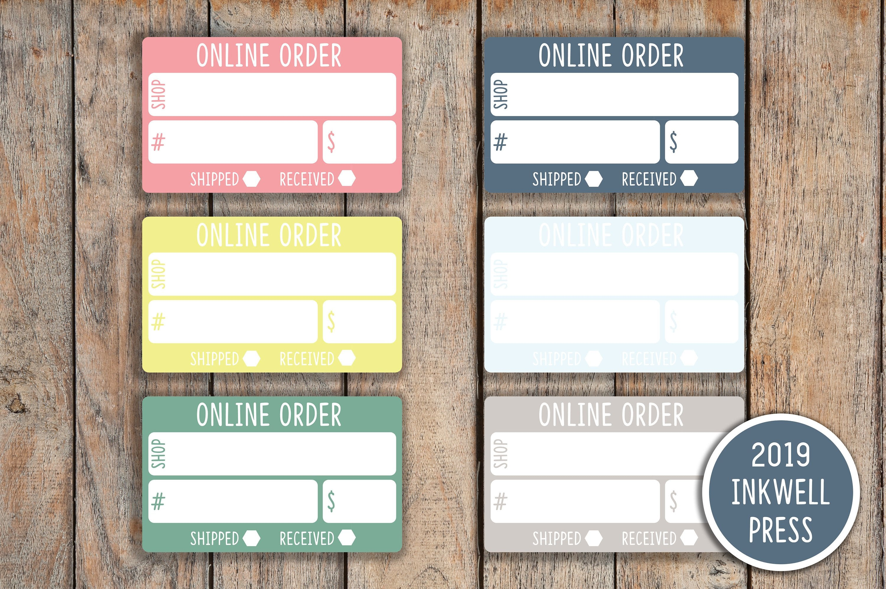e06c2594289ea Online Order Tracker Stickers for 2019 inkWELL Press Planners IWP ...