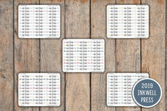 30 Me Time Arrow, Personal Time, Break Time Planner Sticker for 2019 inkWELL Press Planners IWP-T125
