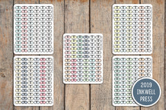 72 Change Contacts/Order Contacts Icon Stickers for 2019 inkWELL Press Planners IWP-T187