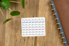 49 Indoor Rowing Icon Planner Stickers for 2019 inkWELL Press Planners IWP-T185