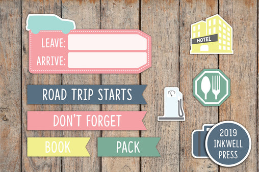 32 Road Trip Sampler Planner Stickers for 2019 inkWELL Press Planners IWP-T136
