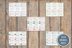 24 Cardio Fitness, Today's Workout Icon Planner Stickers for 2019 inkWELL Press Planners IWP-T141
