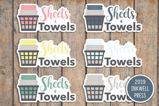 24 Sheets & Towels  Icon Planner Stickers for 2019 inkWELL Press Planners IWP-T189