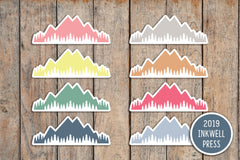 42 Mountain, Hiking Planner Stickers for 2019 inkWELL Press Planners IWP-T197
