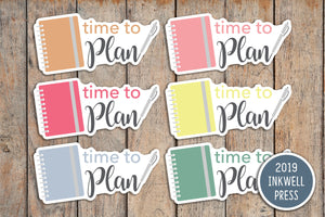 24 Plan With Me, Planning Time, Notebook Planner Stickers for 2019 inkWELL Press Planners IWP-T164