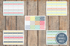 36 Call / Phone Event Label Planner Stickers for 2019 inkWELL Press Planners IWP-G35