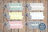 Movie Night Icon Stickers for 2019 inkWELL Press Planners IWP-T195