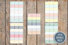 21 Heart Checkbox Blank Half Box Planner Stickers for 2019 inkWELL Press Planners IWP-G39