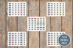 60 Camera, Photo, Instagram  Icon Planner Stickers for 2019 inkWELL Press Planners IWP-T194
