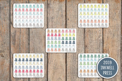54 Video, Film, YouTube, Movie Icon Planner Stickers for 2019 inkWELL Press Planners IWP-T193