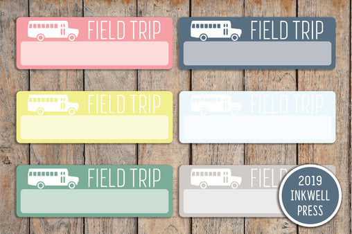 18 Field Trip Planner Stickers for 2019 inkWELL Press Planners IWP-T188
