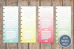 Vertical Monthly Habit Tracker PRINTED Planner Inserts for 2019 inkWELL Press Planners IWP-I18
