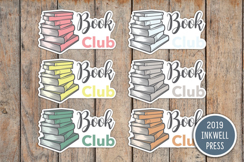 Book Club Planner Stickers for 2019 inkWELL Press Planners IWP-T214