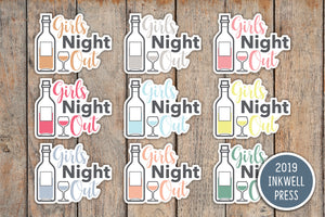 Girls Night Out Planner Stickers for 2019 inkWELL Press Planners IWP-T219