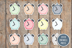 Clock, Alarm, Reminder Icon Planner Stickers for 2019 inkWELL Press Planners IWP-T216