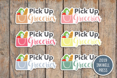 Pick Up Groceries Planner Stickers for 2019 inkWELL Press Planners IWP-T241