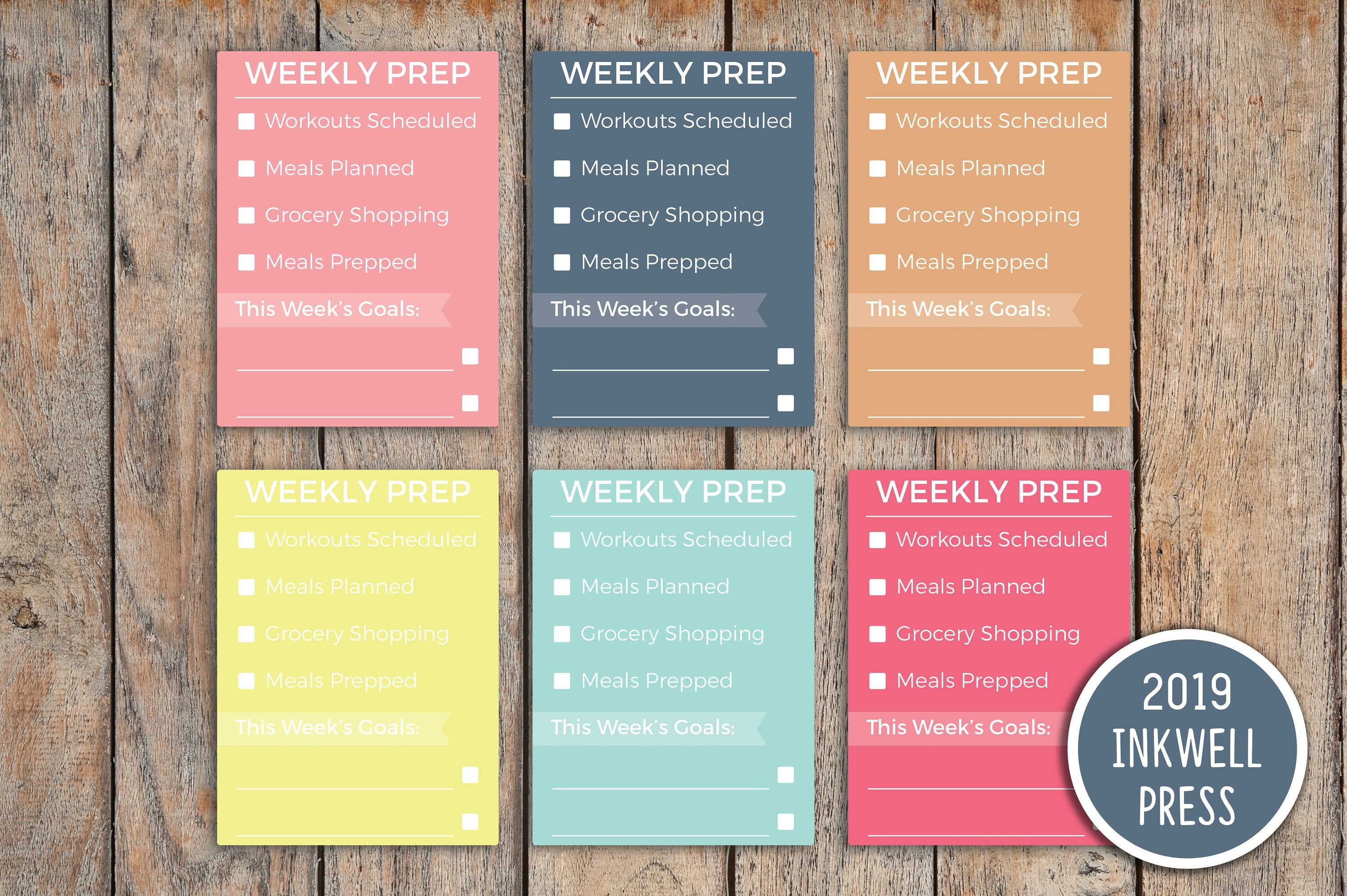 Weekly Health Checklist Sidebar Planner Stickers for 2019 inkWELL Press Planners IWP-G51