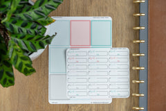 Work Time Dash Box Planner Stickers for 2019 inkWELL Press Planners IWP-T221