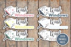 Wash Windows Icon Planner Stickers for 2019 inkWELL Press Planners IWP-T222